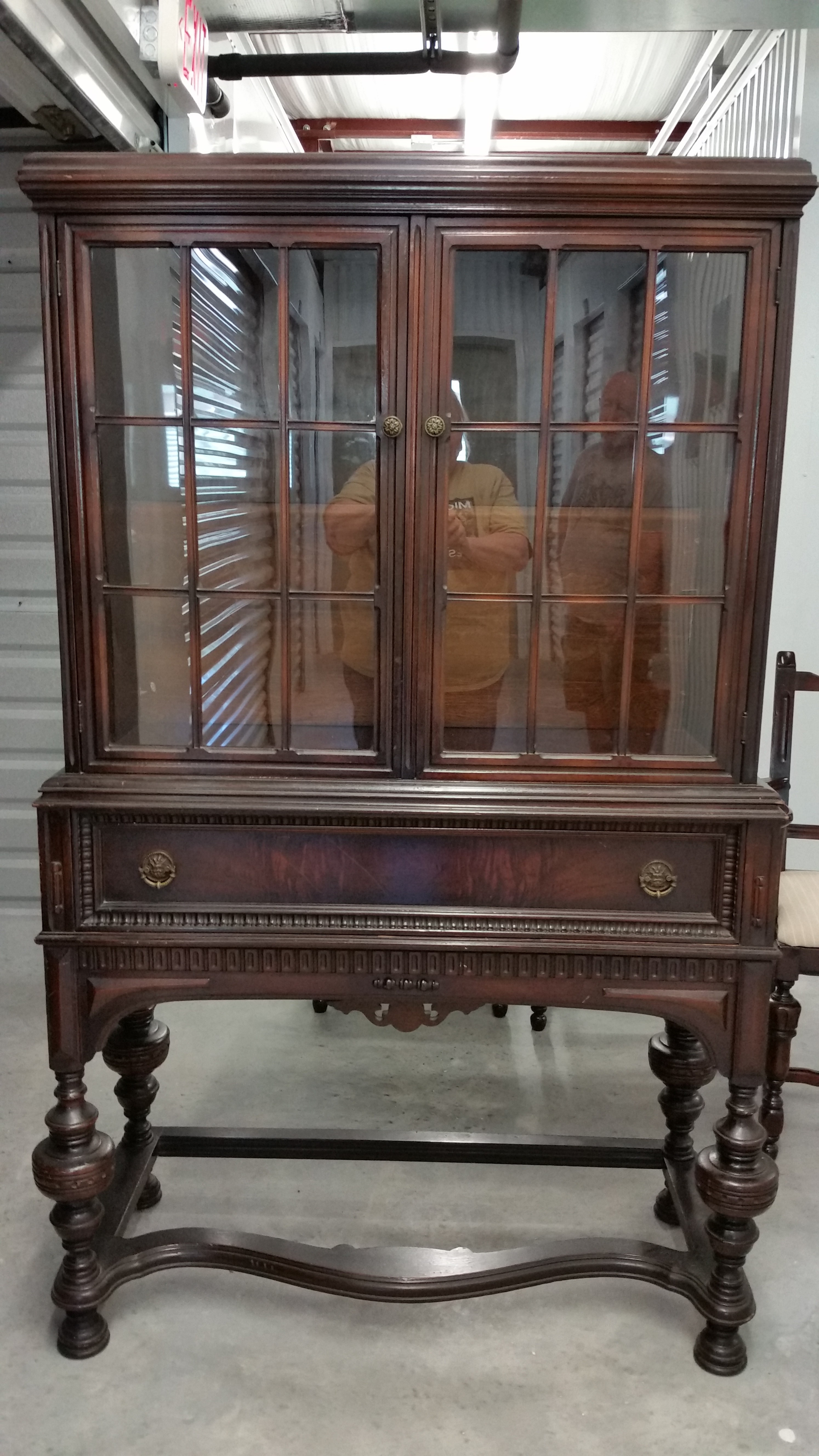 Early Jacobean Style China Cabinet | Wren Wood Antiques