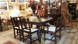 Jacobean style dining room table