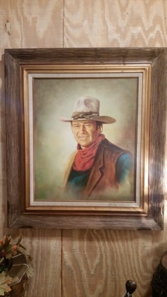 Original Large oil on canvas of John Wayne by Lee Young