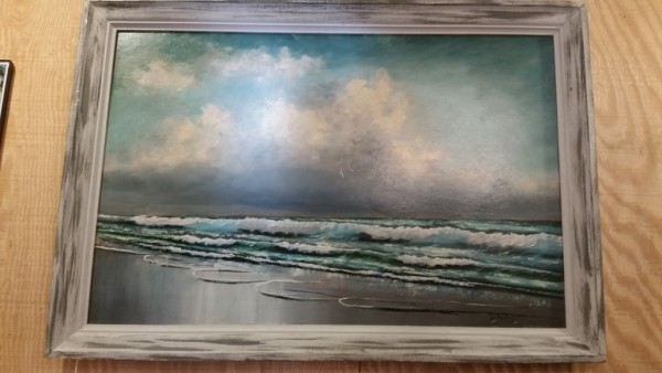 "Stunning Original Vintage Florida Highwaymen oil Painting on Upson board 24"" x 36"" by the late Livingston Roberts"